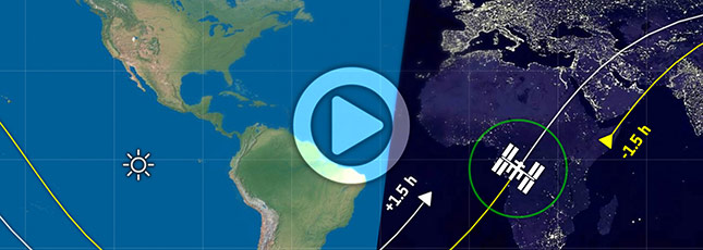 Click for the LIVE ESA International Space Station tracking map
